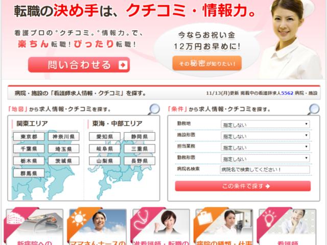 看護プロの公式サイト2